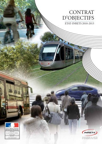 Contrat d'objectifs 2010-2013 - Inrets