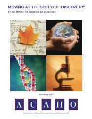 Moving at the Speed of Discovery: From Bench to Bedside ... - Acaho