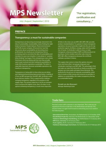 Newsletter 3rd quarter (PDF) - MPS