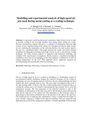Modelling and experimental analysis of high speed air jets used ...