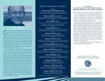 Download the Larry Abbott Mind/Brain 2009 Lecture brochure