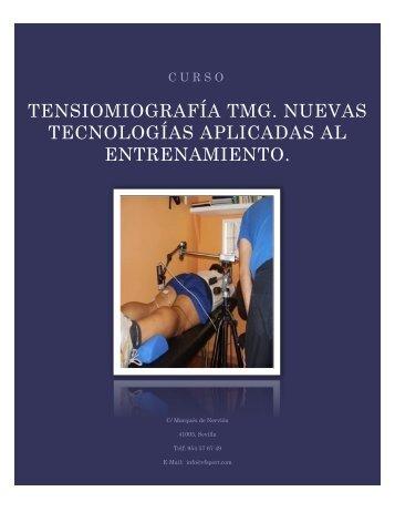 TENSIOMIOGRAFÍA TMG. NUEVAS TECNOLOGÍAS ... - vf sport