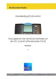ECoSControl radio - t Oude Station
