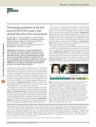 Truncating mutations in the last exon of NOTCH2 cause ... - Integragen