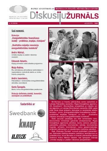 Diskusiju žurnāls - Rīgas enerģētikas aģentūra