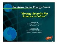 Energy Security for America's Future - West Virginia Department of ...