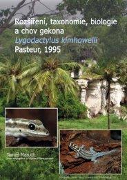 Rozšíření, taxononomie, biologie a chov gekona Lygodactylus ...
