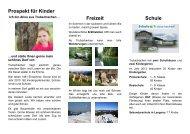 Prospekt für Kinder Freizeit Schule - Schule Trubschachen: HOME
