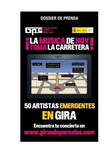 5. Calendario de conciertos confirmados - Girando Por Salas