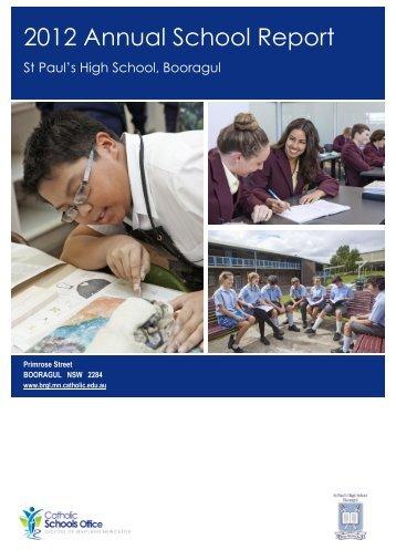 BOORAGUL St Paul's High School (2012) - Catholic Schools Office ...