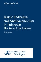 Islamic Radicalism and Anti-Americanism in Indonesia - ScholarSpace