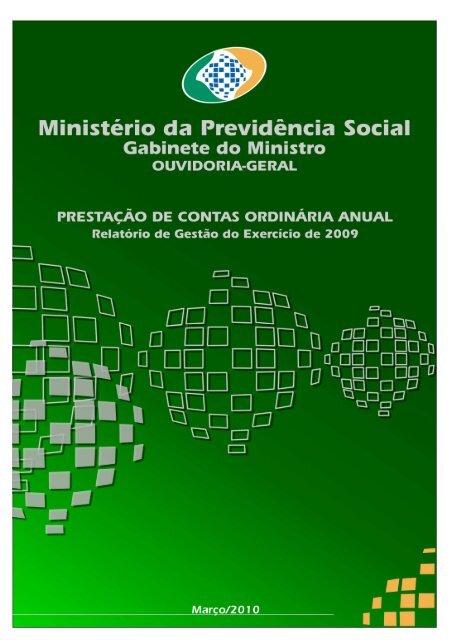Relatório de Gestão - Ministério da Previdência Social