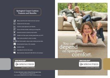 depend comfort. - Dunlop Flooring