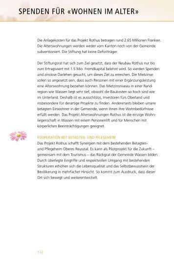 PDF Spenden für «Wohnen im Alter - Gemeinde Wassen