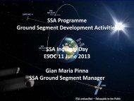 SSA Programme Ground Segment Development ... - emits - ESA