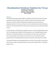 Desalination Database Updates for Texas - Texas Water ...