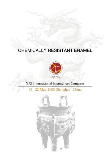 chemically resistant enamel - IEI, International Enamellers Institute