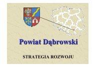 Strategia rozwoju powiatu dąbrowskiego - Województwo Małopolskie