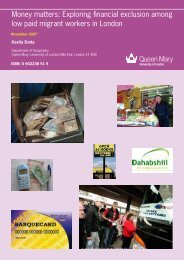 Money matters final report-2 - School of Geography - Queen Mary ...
