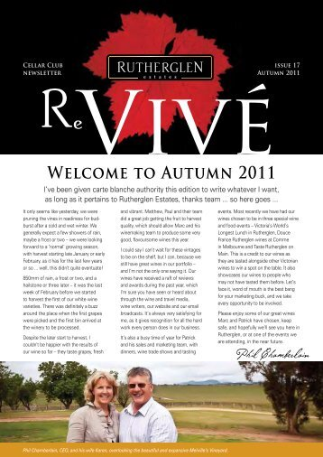 Welcome to Autumn 2011 - Rutherglen Estates