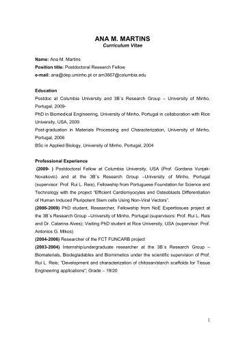 zhen yuan curriculum vitae biomedical engineering