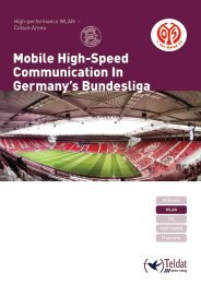 Mobile High-Speed Communication In Germany's ... - Teldat GmbH