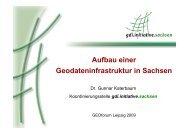 Aufbau einer Geodateninfrastruktur in Sachsen - GEO LEIPZIG eV