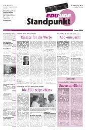 Ausgabe Januar 01/06 - EDU Schweiz