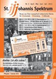 Heft Mai 2011 - Jul. 2011 - St. Johannis Bemerode