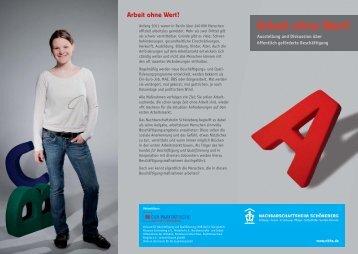 Flyer Arbeit ohne Wert VI - Verband für sozial-kulturelle Arbeit eV