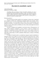 Descrição de comunidades vegetais - Ecologia Quantitativa - Ufrgs