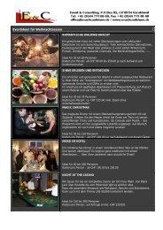 Event-Ideen für Weihnachtsessen