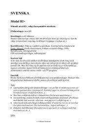 Kursplan B2+ (pdf) - Folkuniversitetet