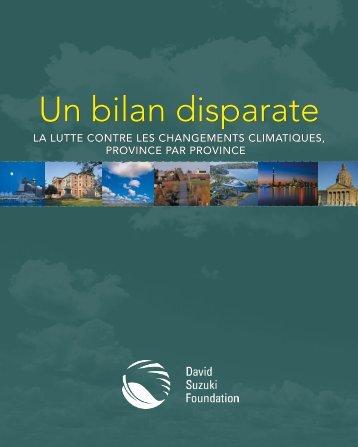 un bilan disparate (pdf) - David Suzuki Foundation