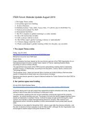 ITER Forum Website Update August 2010 - ainse