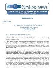 SymHop News édition spéciale Loi HPST du jeudi 09 avril ... - CSMF