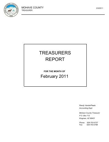 Treasurers report - Mohave County