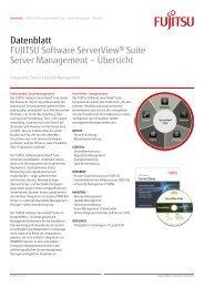 Datenblatt: FUJITSU Software ServerView® Suite