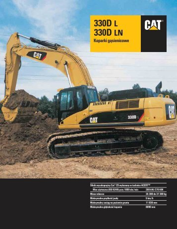 koparka CAT 330DL - SITG.AGH.edu.pl