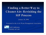 Finding a Better Way to Cleaner Air– Revisiting the SIP Process