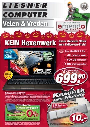 Mo-Fr 9-18 Uhr Sa 10-13 Uhr Öffnungszeiten - Liesner Computer