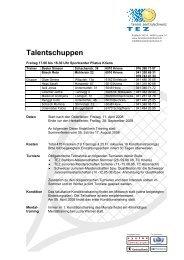 Talentschuppen - Tennis Zentralschweiz