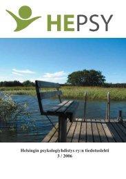 Lehti 3/2006 pdf-muodossa - Helsingin psykologiyhdistys