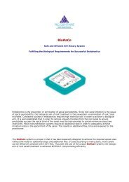 BioRaCe - Brochure - Endodonzia Dr. Mauro Venturi Home