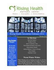 Rising Health Newsletter February 2012 - Rising Health Wellness ...