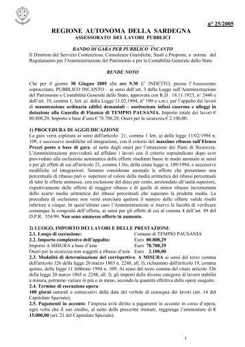 Bando di gara con relative schede di partecipazione [file.pdf]