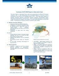 Summary of IATA 2009 Report on Alternative Fuels