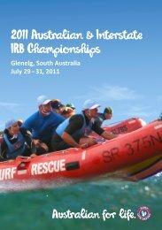 2011 Australian & Interstate IRB Championships - Surf Life Saving ...
