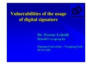 Vulnerabilities of the usage of digital signature - Dr. Leitold Ferenc ...