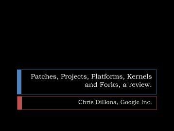 Chris DiBona, Google Inc. - Linux Foundation Events